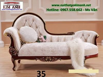 Ghế thư giãn tân cổ điển - sofa đơn dài 8