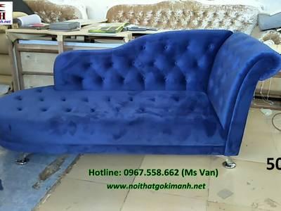 Ghế thư giãn tân cổ điển - sofa đơn dài 10