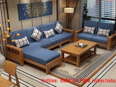 Sofa gỗ hiện đại tphcm. Sofa gỗ nệm 2