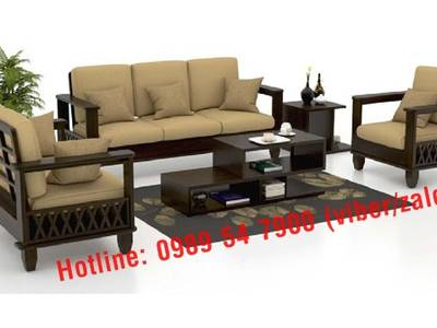 Sofa gỗ hiện đại tphcm. Sofa gỗ nệm 3