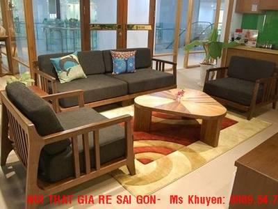 Sofa gỗ hiện đại tphcm. Sofa gỗ nệm 6