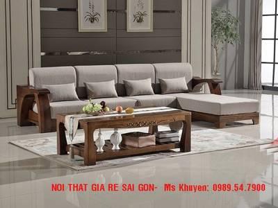 Sofa gỗ hiện đại tphcm. Sofa gỗ nệm 9