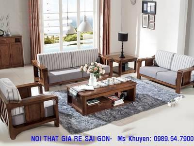 Sofa gỗ hiện đại tphcm. Sofa gỗ nệm 11