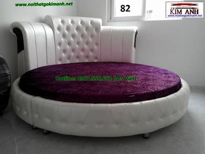 Giường tròn giá rẻ   xưởng làm giường ngủ hình tròn cao cấp giao hàng toàn quốc 9