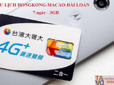 Sim 3G/4G du lịch Trung Quoc -Hongkong-Macao-Đài Loan 1