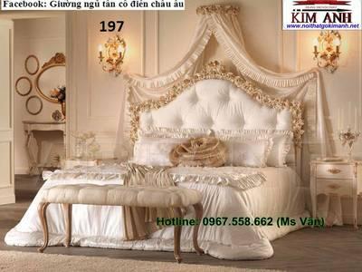 Giường ngủ cổ điển cao cấp   bộ sưu tập giường tân cổ điển châu âu siêu đẹp bền chắc 3