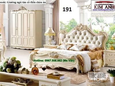 Giường ngủ cổ điển cao cấp   bộ sưu tập giường tân cổ điển châu âu siêu đẹp bền chắc 5