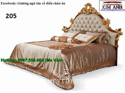Giường ngủ cổ điển cao cấp   bộ sưu tập giường tân cổ điển châu âu siêu đẹp bền chắc 13