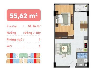 Chỉ 890 triệu, sở hữu ngay căn hộ Hiệp Thành Buildings 387A đường Lê Văn Khương 4
