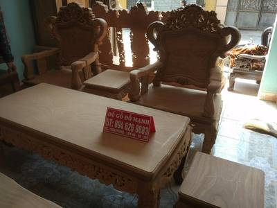 Bộ bàn ghế kiểu Louis Pháp gỗ gõ đỏ 1