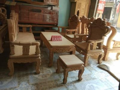 Bộ bàn ghế kiểu Louis Pháp gỗ gõ đỏ 7