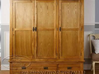 Tủ áo gỗ sồi Mỹ hàng xuất khẩu giá rẻ nhì Sài Gòn 5