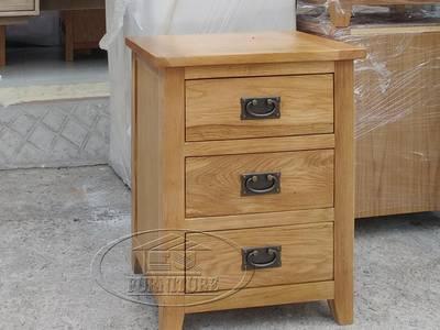 Tủ gỗ sồi 3 ngăn kéo hàng xuất khẩu 0
