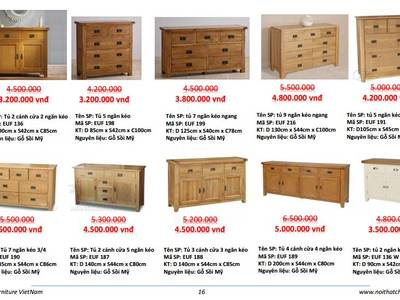 Tủ gỗ sồi 3 ngăn kéo hàng xuất khẩu 11