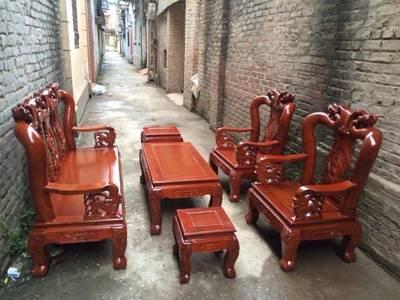 Bộ bàn ghế giả cổ minh quốc đào gỗ tràm Tay 10 và Tay 12 5