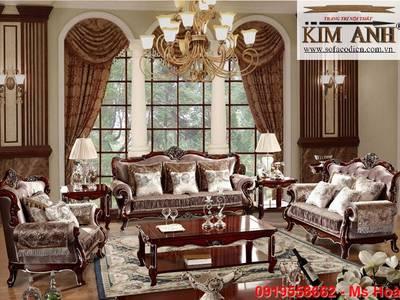 Sofa cổ điển đẹp cho biệt thự Bình Dương, Tp.HCM, Cần Thơ 16