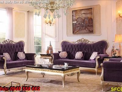 Xả hàng thanh lý tồn kho sofa tân cổ điển nhập khẩu kiểu dáng châu âu giá rẻ toàn quốc 16