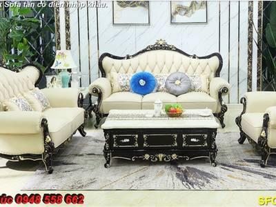 Xả hàng thanh lý tồn kho sofa tân cổ điển nhập khẩu kiểu dáng châu âu giá rẻ toàn quốc 18