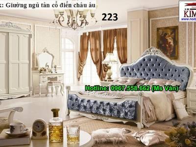 Mẫu Giường Ngủ Cổ Điển Theo Phong Cách Châu Âu Cực Đẹp 11