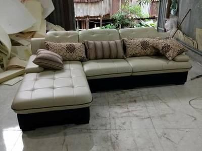 10 mẫu sofa gỗ phòng khách chữ L hiện đại đẹp nhất, tốt nhất giá dưới 15 triệu 4