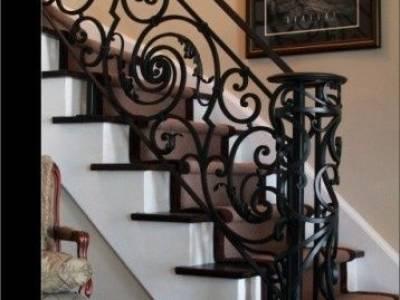 Cầu thang sắt nghệ thuật, cầu thang sắt, lan can cầu thang sắt 1