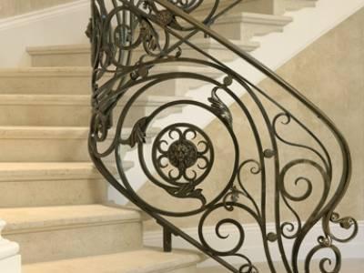 Cầu thang sắt nghệ thuật, cầu thang sắt, lan can cầu thang sắt 5