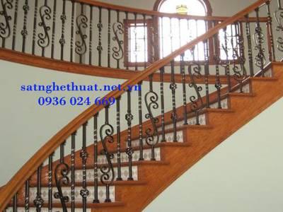 Cầu thang sắt nghệ thuật, cầu thang sắt, lan can cầu thang sắt 15