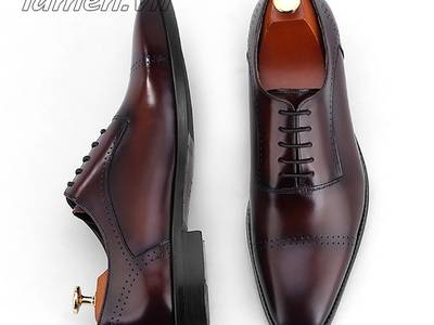 Giày Tây Buộc Dây Nam Cao Cấp, Giày Nam Công Sở Oxford đẹp nhất 1