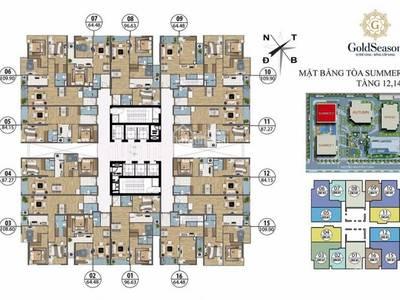 Chính chủ bán căn 08 tòa summer 2 - Goldseas, 96,63m2, 3 pn - full nội thất cao cấp. Giá 2,975 tỷ 2