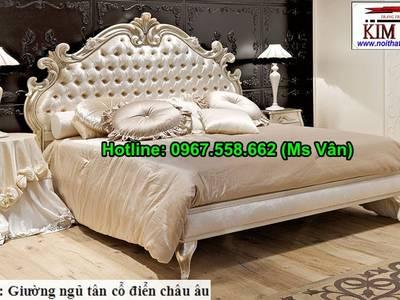 Xưởng chuyên đặt đóng giường ngủ cổ điển - giường tủ phòng ngủ phong cách châu âu 13