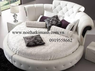 Những mẫu giường tròn ấn tượng, tôn lên vẻ đẹp mới lạ cho phòng ngủ. 7