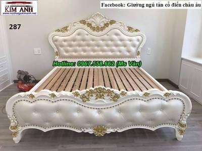 Top 20 mẫu giường ngủ tân cổ điển châu âu đẹp giá rẻ tại xưởng 4