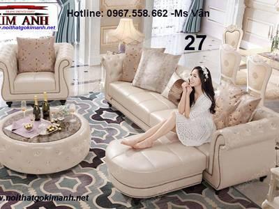 Ghế sofa góc phòng khách gỗ tân cổ điển đẹp chất lượng châu âu 5