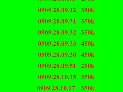 Sim lộc phát , sim thần tài, sim mobifone, sim 0909 5