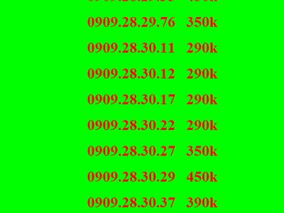 Sim lộc phát , sim thần tài, sim mobifone, sim 0909 19