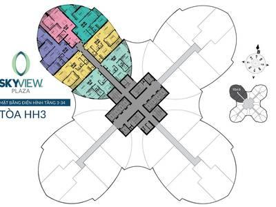 Mở bán đợt 1 dự án sky view plaza 360 giải phóng chỉ 2,1 tỷ/căn 5