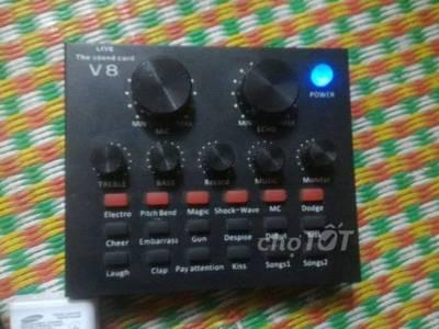 Soudcard v8 có autotun và mic bm80p 0