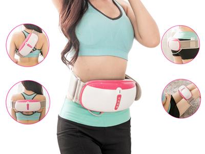 Đai massage rung nóng giảm mỡ bụng cao cấp chính hãng Hàn Quốc, máy rung xoay hồng ngoại giảm béo 0