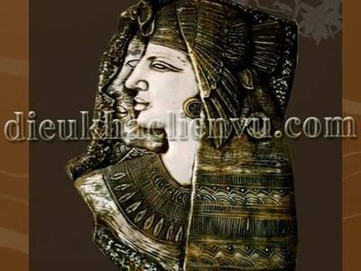 Phù điêu vợ chồng Cleopatra 0