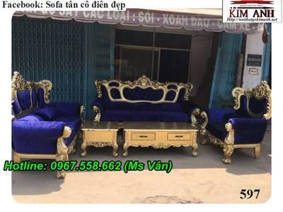 Ghế sofa cổ điển đẹp, xưởng chuyển sofa cổ điển hoàng gia cao cấp 5
