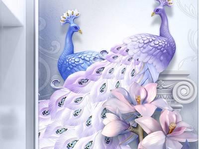 Tranh 3d phòng ngủ - gạch tranh 3d 4
