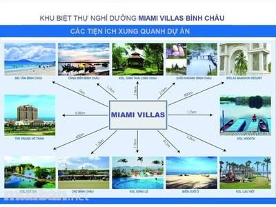 Đất Nền  Biệt Thự Liền Kề Biển. MIAMI VILLAS BÌNH CHÂU. Bà Rịa Vũng Tàu 0