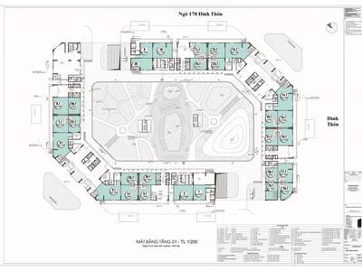 Cho thuê hoặc bán sàn thương mại 1026m2 tại dự án The Emerald Mỹ Đình- Vị trí đắc địa KD hiệu quả 1