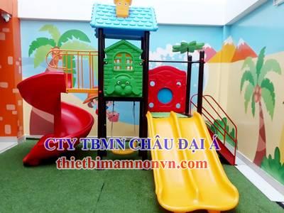 Cầu trượt bằng nhựa nhập khẩu dành cho trẻ em mầm non, khu vui chơi trẻ em 0