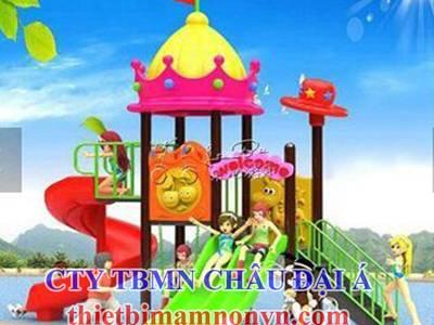 Cầu trượt bằng nhựa nhập khẩu dành cho trẻ em mầm non, khu vui chơi trẻ em 8