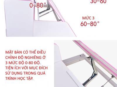Bộ bàn học thông minh chống gù chống cận nhập khẩu Khôi Nguyên BHS04 6