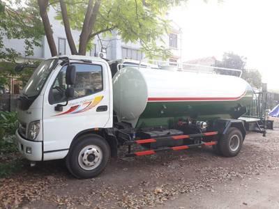 Ô tô xitec phun tưới nước rửa đường 1