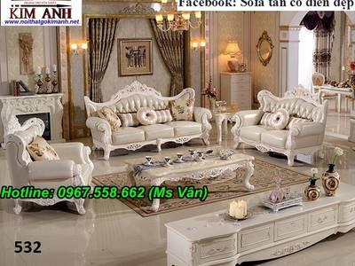 Bán bàn ghế sofa cổ điển đẹp sang chảnh - nội thất tân cổ điển biệt thự châu âu 4