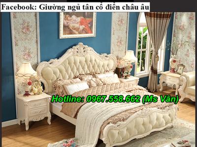Top 20 bộ giường tủ gỗ tự nhiên phong cách tân cổ điển cực xinh 3