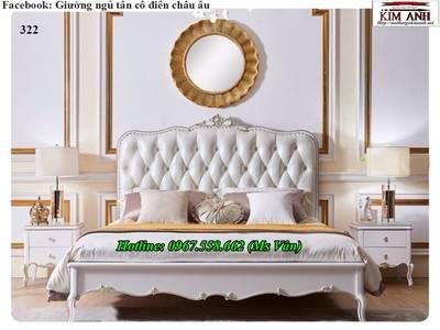 Top 20 bộ giường tủ gỗ tự nhiên phong cách tân cổ điển cực xinh 9